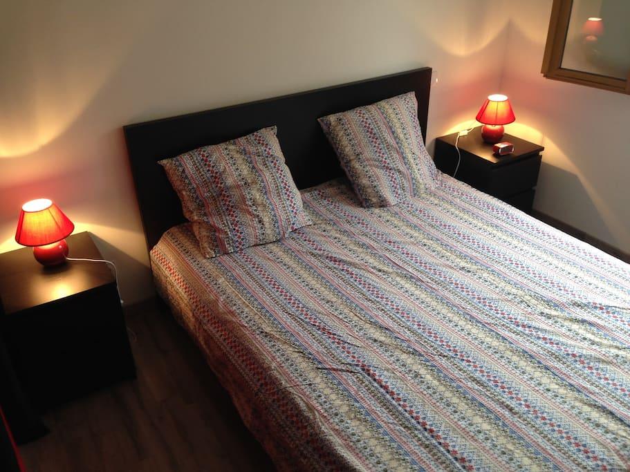 Chambre 1 avec lit en 160*200cm