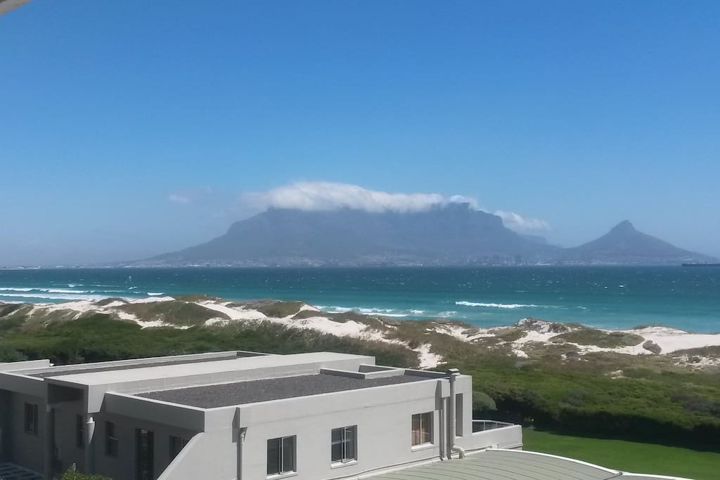 The view of Table Mountain from the apartments 2 balconies