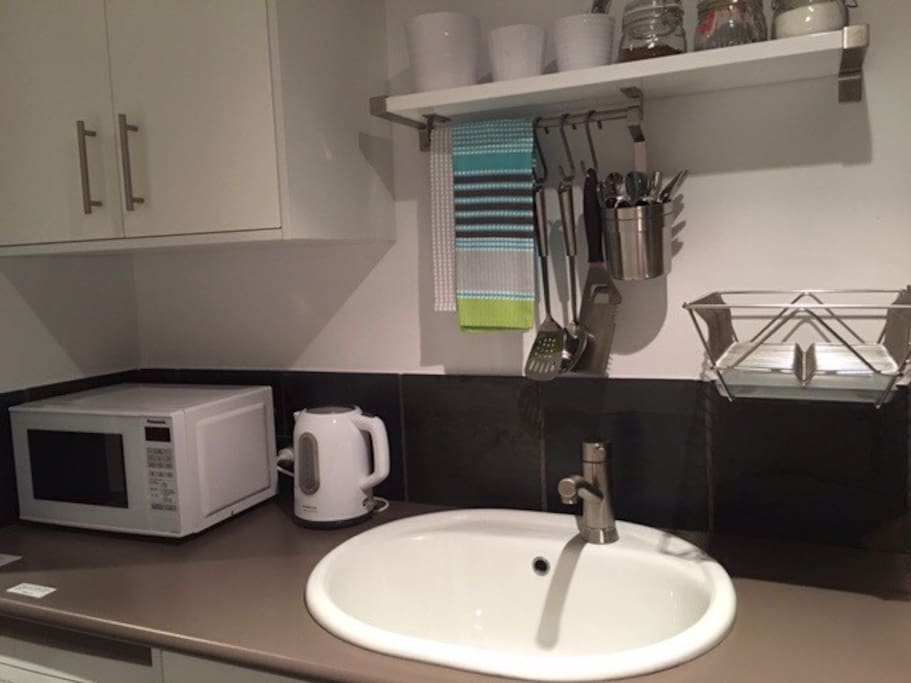 Kitchenette perfect for short stays