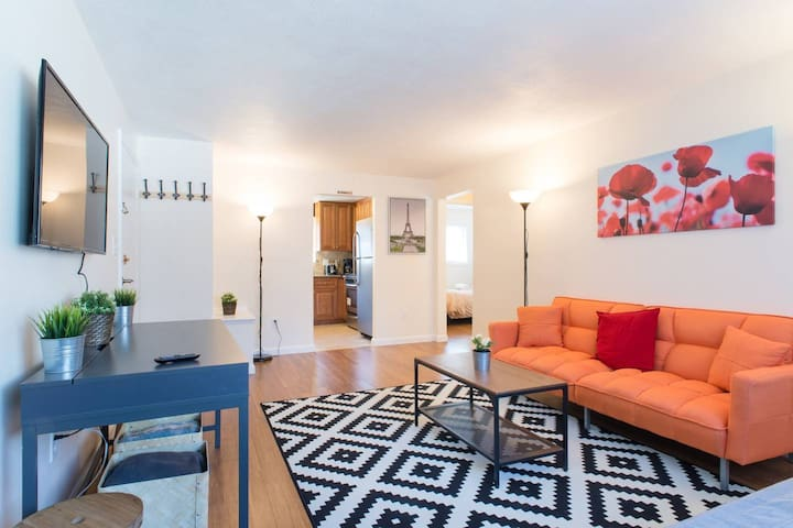 ADORABLE HARVARD Apt2BR/1FULLBath+2FreeParking!