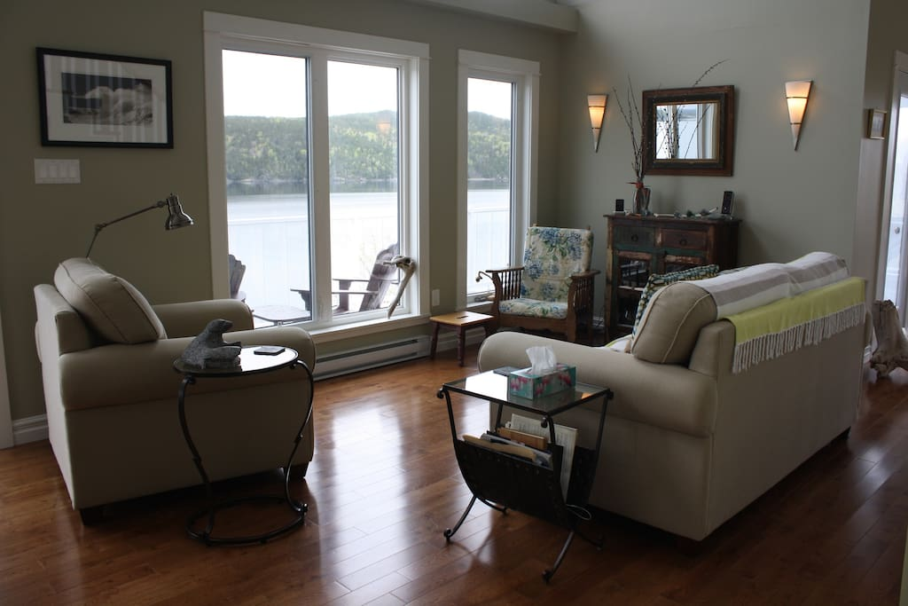 Living room, looking onto the Bay