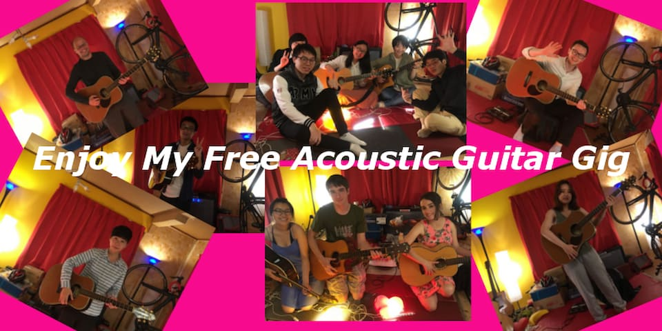 My free acoustic guitar gig photo. More than 100 guests enjoyed this (^-^)v