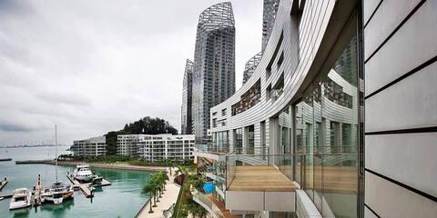 Near CBD & Sentosa Luxury 3-Bed 近胜淘沙环球影城市区豪华3睡房公寓