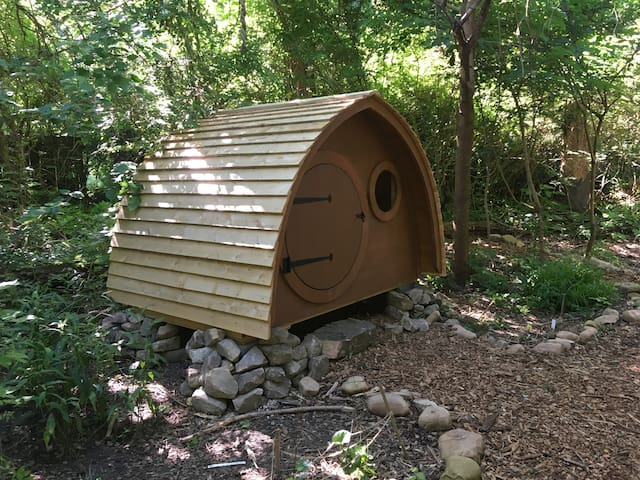 Hobbit Homes in Woodland Setting