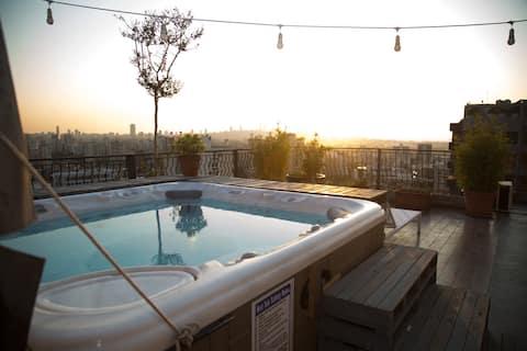 ベイルートの屋上プール