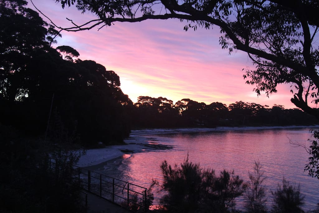 Your beach and view of Jervis Bay from the property for sunset drinks!