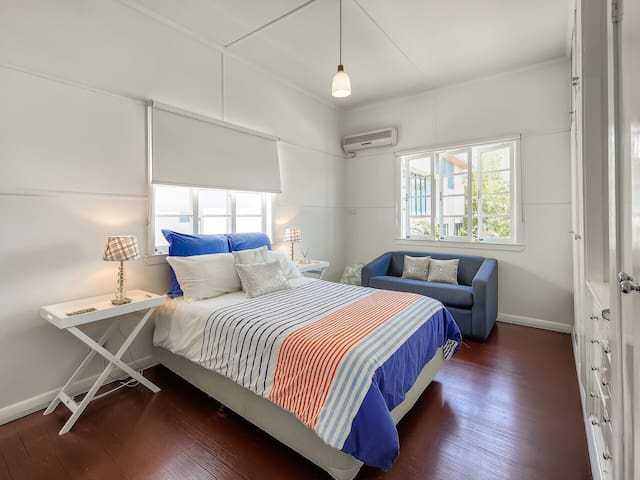Bedroom 3, large room,  double bed, single sofa bed, wardrobe & A/C