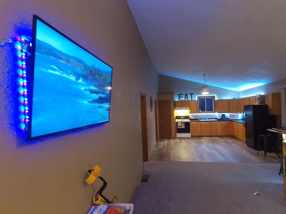 Huge 50 inch wall mount flat screen (purchased in 2016)  with backlit LED.