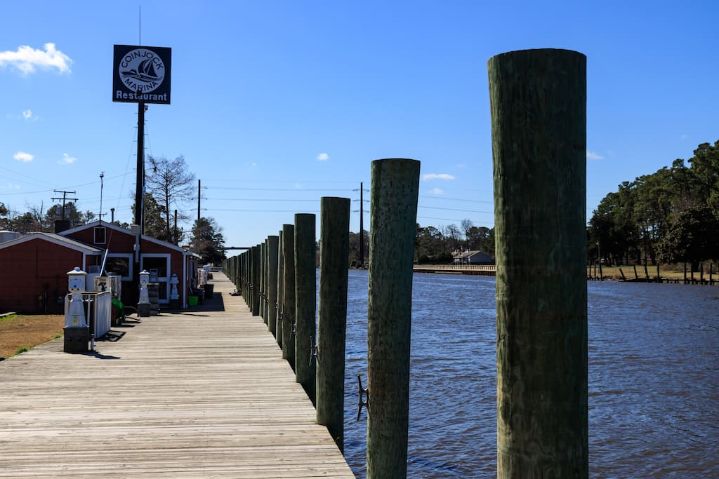Go fishing or crabbing at end of the boardwalk! Ship store located on the boardwalk!