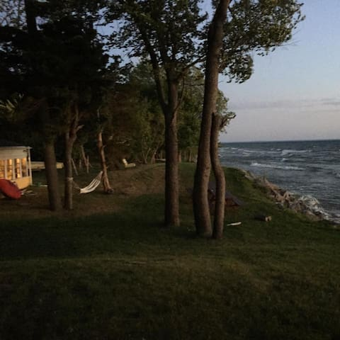 camp and Lake Ontario