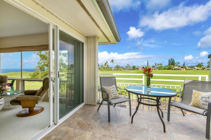 Garden Isle Paradise: Oceanview quiet comfort & AC