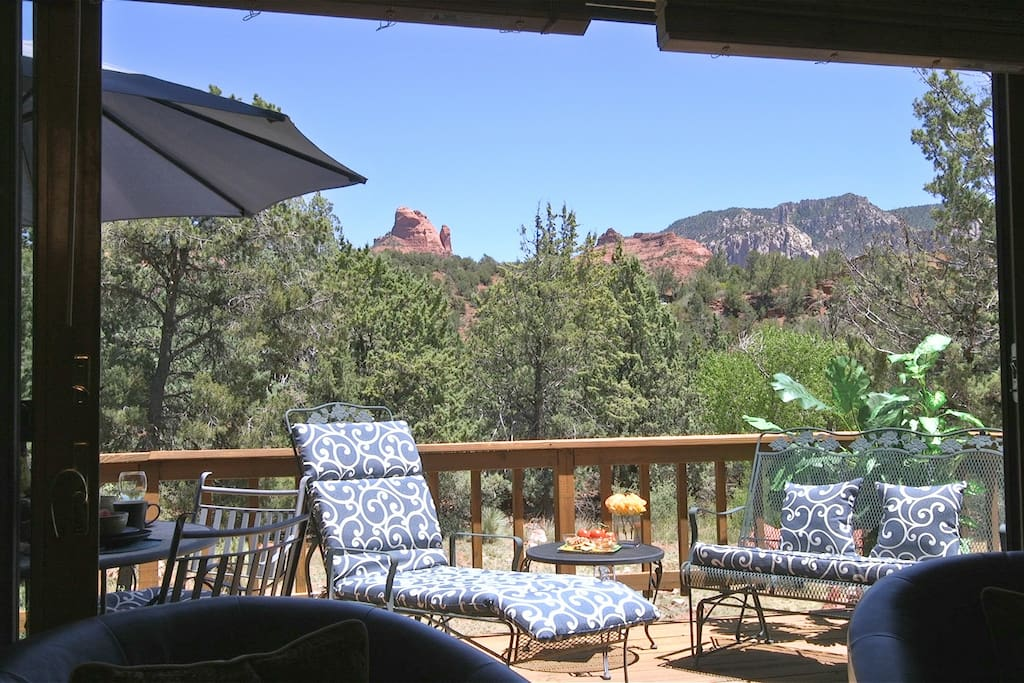 Enjoy your raised deck off the living room featuring views in all directions