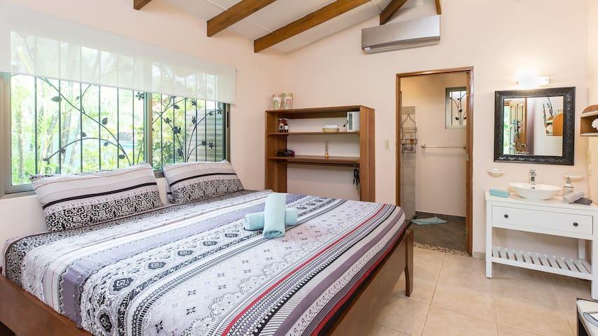 Double Rooms with AC at B&B Jardin de los Monos, Playa Matapalo, Costa Rica