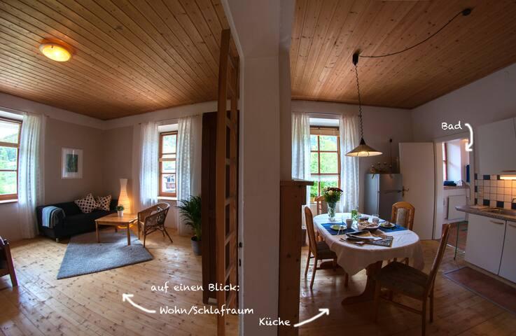 2-Raum-Apartment D mit Doppelbett und Hochbetten