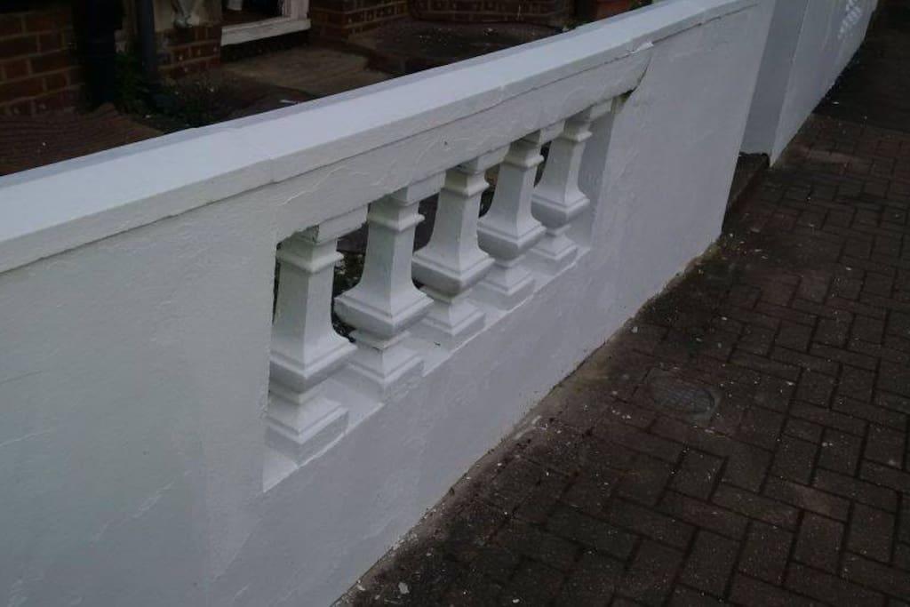 Finally fixed the wall!