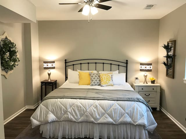 Private Master Bedroom - with an amazing king-size bed.