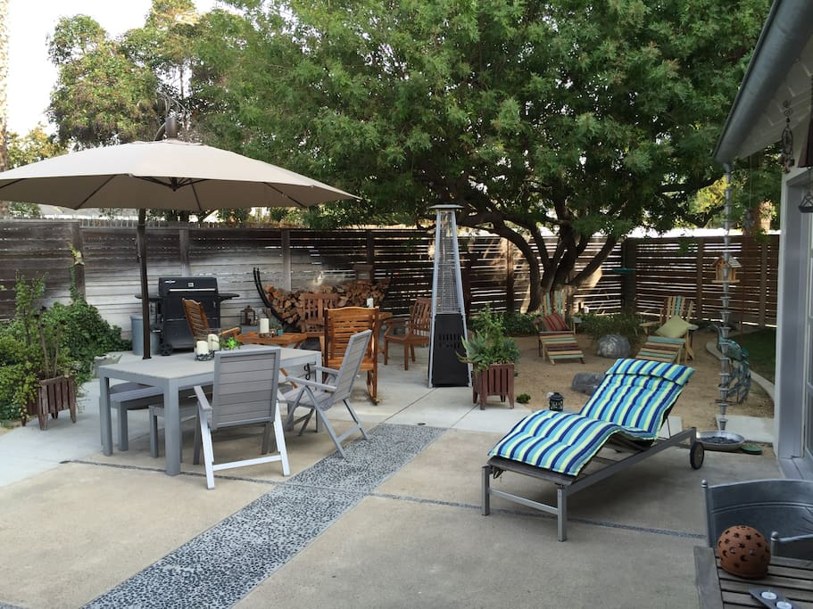 Large Private, Landscaped yard - Furnished and BBQ