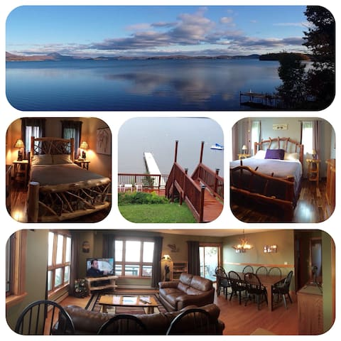 Lake side home on Lake Memphremagog - Newport - Casa