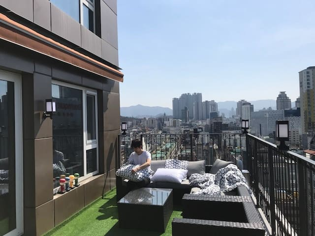[the감성]도시속 휴향지 테라스와 가든Beautiful City View so cool