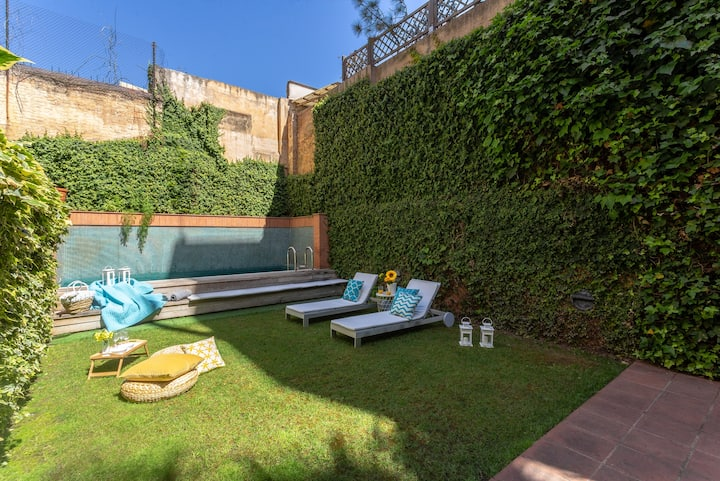 NEW House with garden & swimming pool in Barcelona