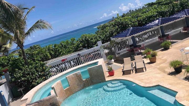 Coral Beachfront Apartment + Pool & Parking