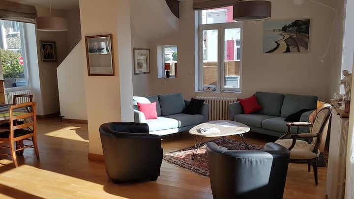 Villa 8-10 personnes, wimereux plage, parking wifi