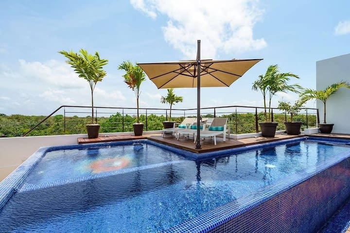 Fully equipped studio with rooftop pool jacuzzi*9