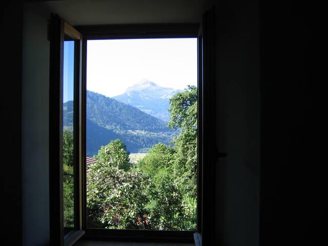 Vue sur le mont Joly depuis l'appartement