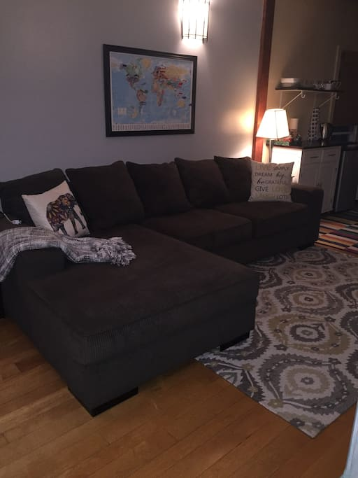 Comfy large sitting area