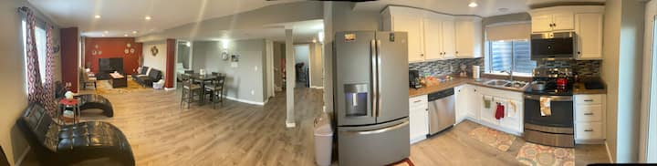 Brand new, spacious cozy walk out basement