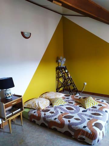 Belle chambre avec vue en plein centre de Crest