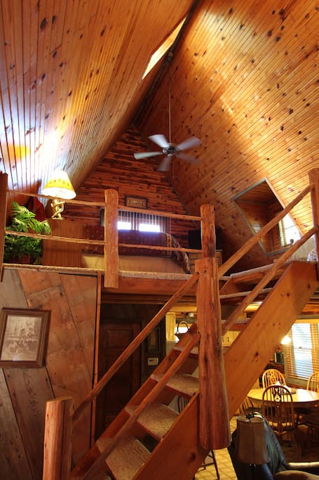 Staircase up to loft