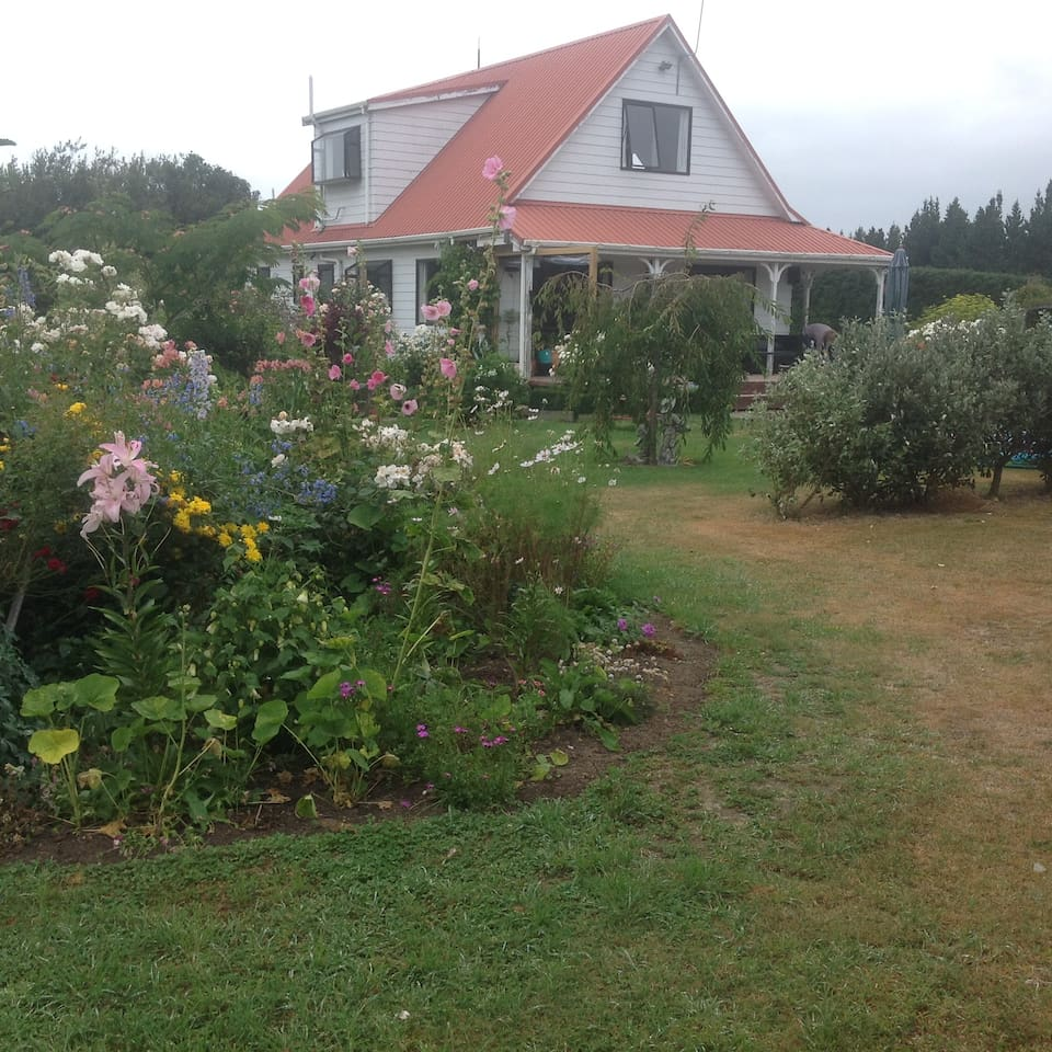 House with gardens.