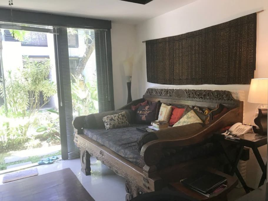 The comfortable Javanese day bed,