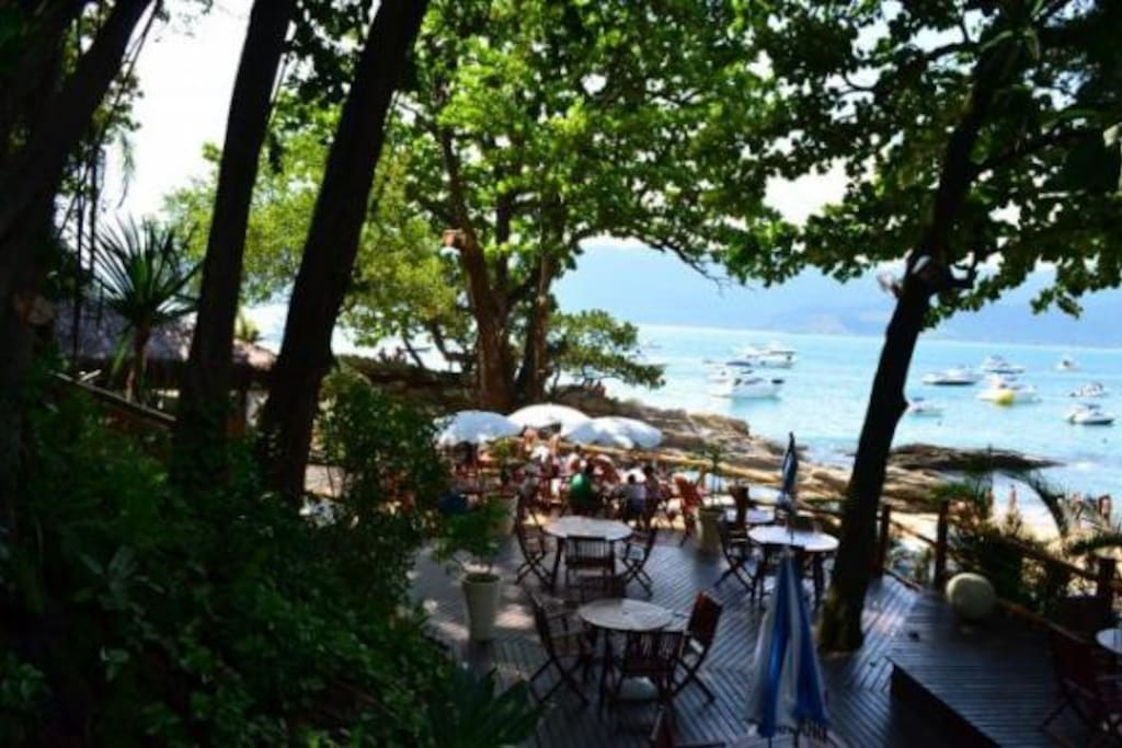 Bar privativo na praia