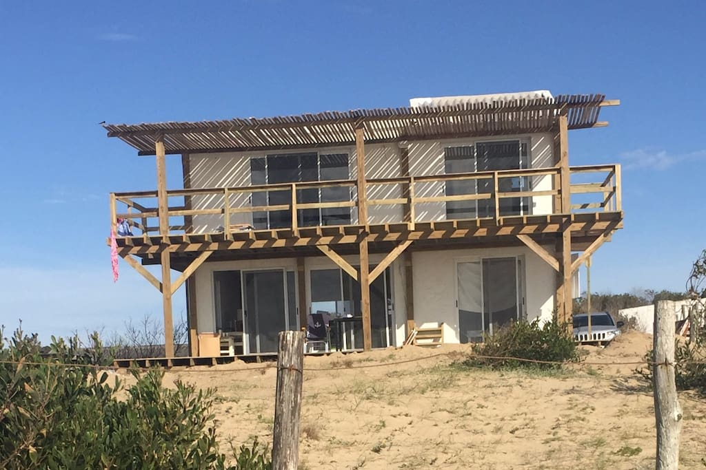 Front side of beach house