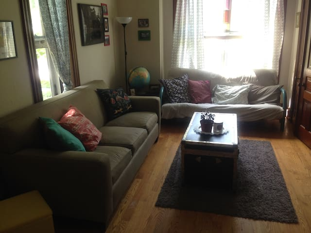 Cozy Apartment walkable to Downtown or Stadium