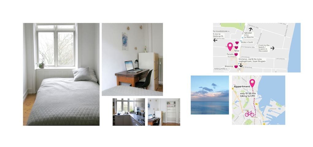 Nice and quiet room in the perfect surroundings - Hellerup - Apartamento