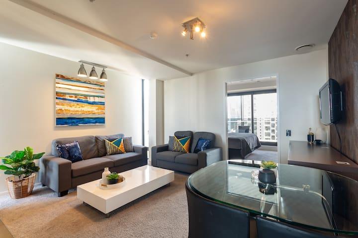 Light filled open plan living room
