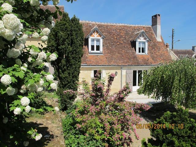 Gîte Mi Longère  Loches 2 km calme charme confort - Perrusson - Huis