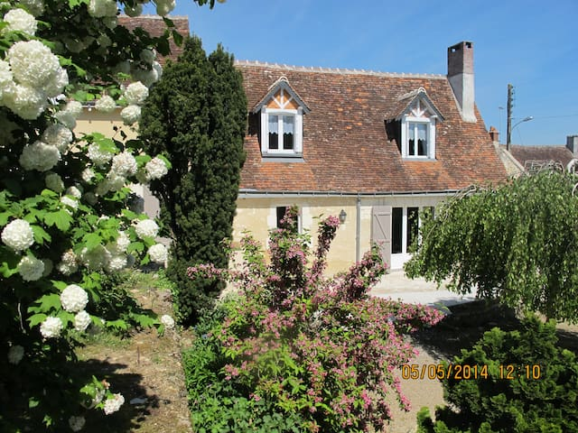 Gîte Mi Longère  Loches 2 km calme charme confort - Perrusson - Casa