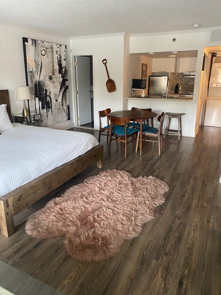 Entire Condo 1 King Bed + Sofa Bed in St-Sauveur