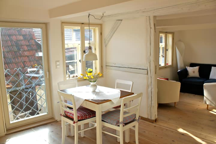 Romantic holiday apartement 6 P., oven & terrasse