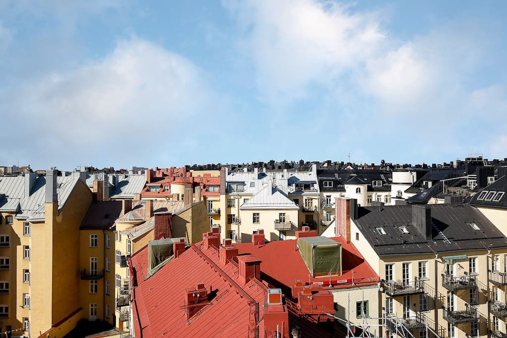 Rooftops in the neighborhood