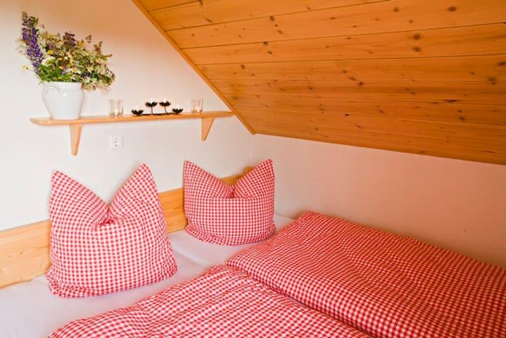 Masterbedroom in der Hütte