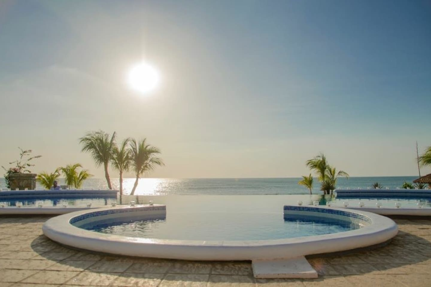 Shared infinity pool. Located outside the Sea Salt Restaurant. 2 minute walk from Casa Girasol.