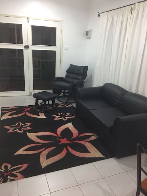 Separate lounge room with tv