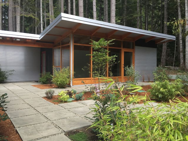 Modern studio in the woods, Denman Island