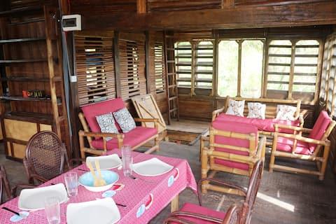 Дом с тропическим видом в Бусуа