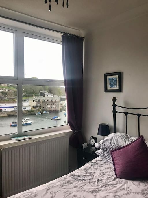 Double ensuite room with views across harbour